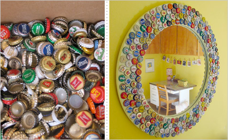 Of all the beer cap mirrors, this one's our fave!