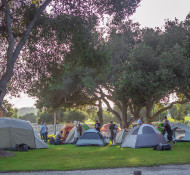 The campsite on Firestone property