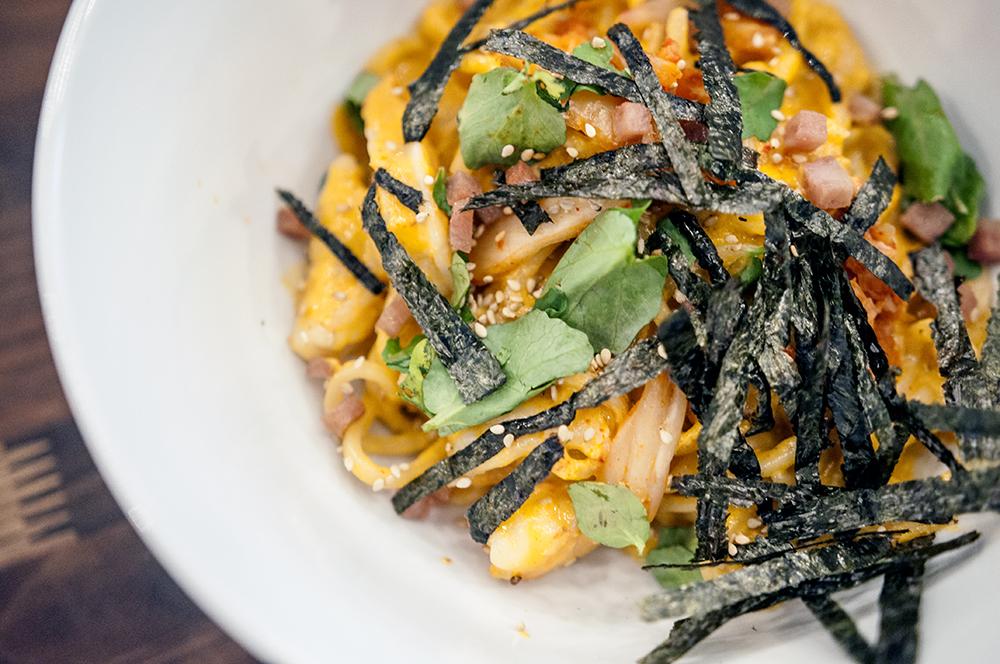 Ozu Kitchen Kimchi Udon Shirmp
