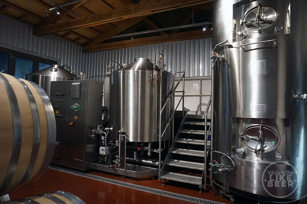 Not yet hooked in - the pilot brewhouse will hopefully be operating soon
