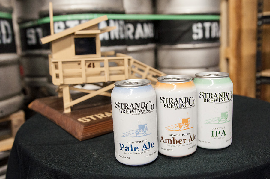 Strand Brewing's new line of cans